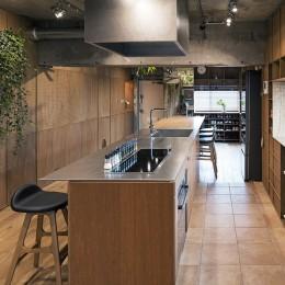 キッチン (料理教室スタジオであり、職場であり住居。|おもてなしユニットが作るSOHO)