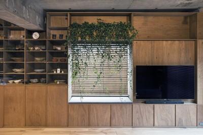 料理教室スタジオであり、職場であり住居。|おもてなしユニットが作るSOHO (リビング)