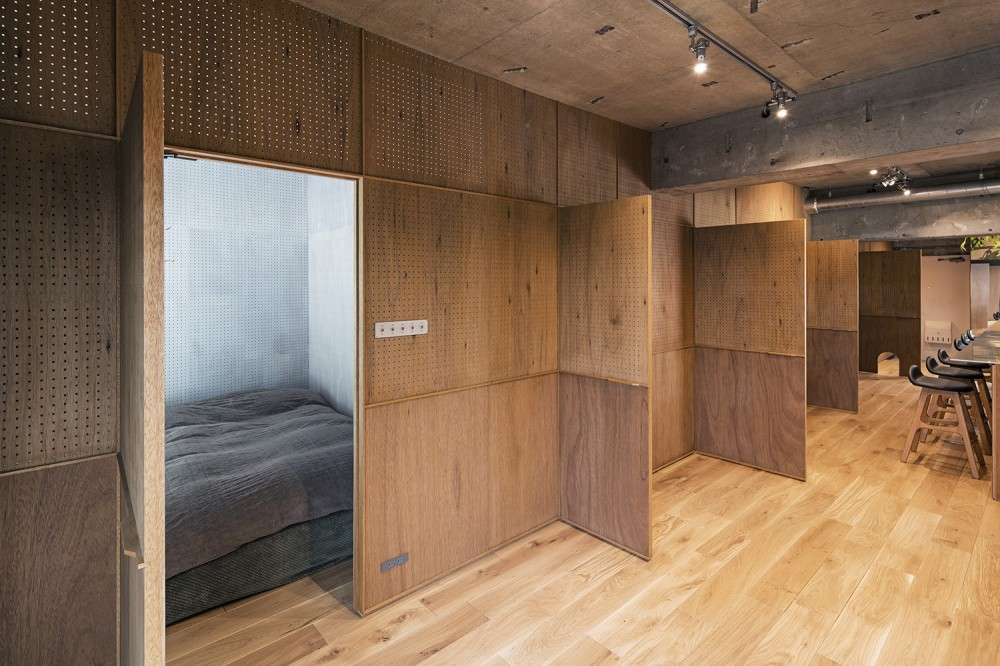 料理教室スタジオであり、職場であり住居。|おもてなしユニットが作るSOHO (寝室スペース)