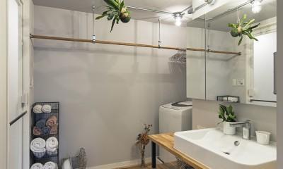 料理教室スタジオであり、職場であり住居。|おもてなしユニットが作るSOHO (洗面脱衣室)