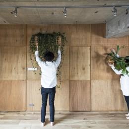 料理教室スタジオであり、職場であり住居。|おもてなしユニットが作るSOHO (壁面ディスプレイ)