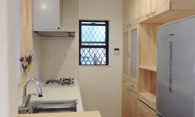 神奈川県 戸建ての無添加住宅リノベーション (造作キャビネット)
