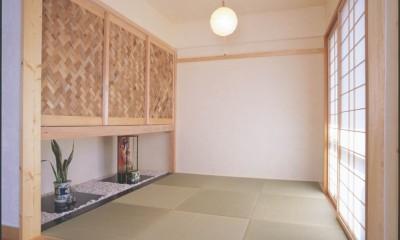 パーツ事例集 (竹アジロと漆喰、空間を広げた和室リフォーム)