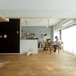 大阪府Kさん邸:防音室を備え、子どもの成長に伴って変化できる間取りに (LDK)