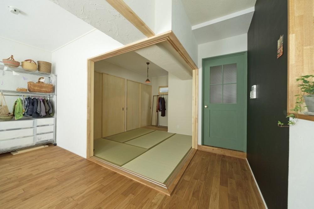 大阪府Kさん邸:防音室を備え、子どもの成長に伴って変化できる間取りに (畳スペース)