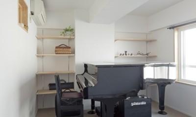 大阪府Kさん邸:防音室を備え、子どもの成長に伴って変化できる間取りに (将来はピアノ教室に)