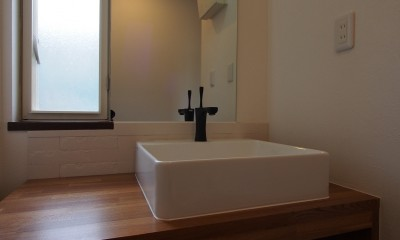 K様邸~戸建てリノベーション~ (造作洗面化粧台)