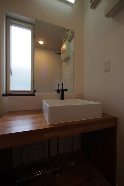 造作洗面化粧台 (K様邸~戸建てリノベーション~)