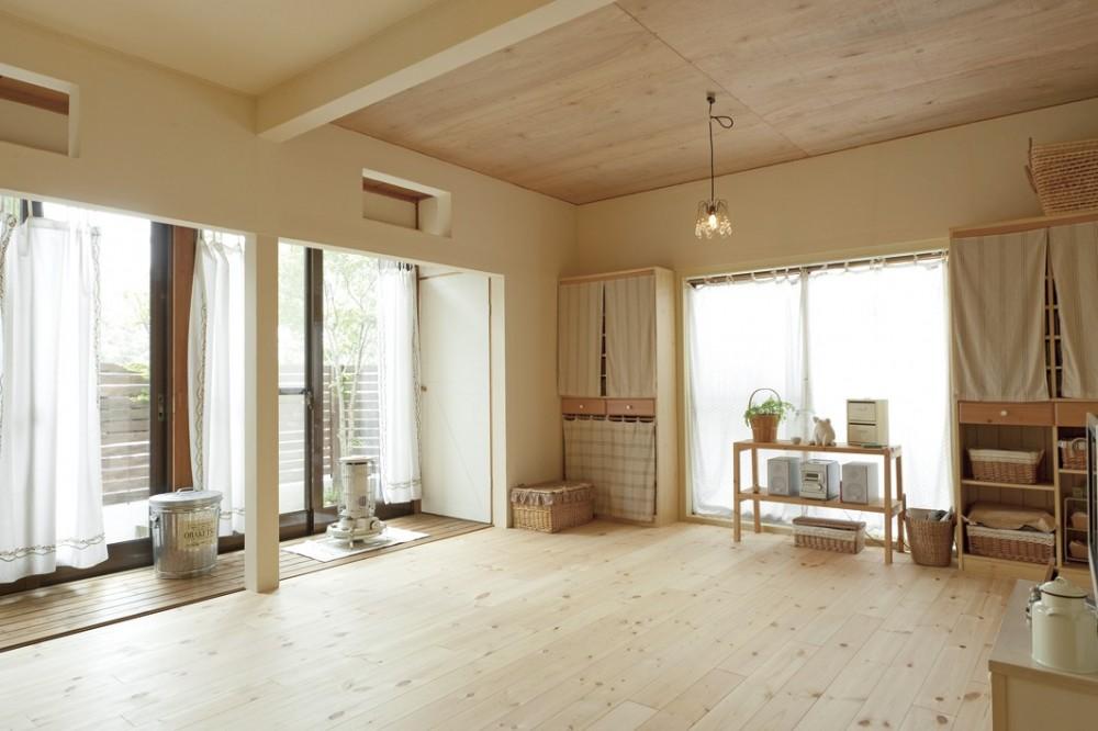 滋賀県Nさん邸:雑貨が似合う家に「わくわく」気分 (LDK)