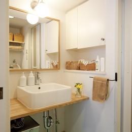大阪府Kさん邸:カフェのようなおしゃれな、私テイストの部屋に (造作洗面台)
