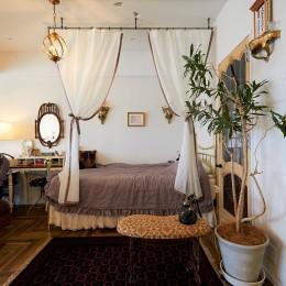ベッドスペース (海を眺める、フレンチモロッカンハウス)