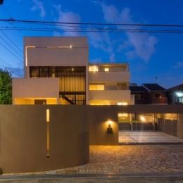 下新城の家 (夜景)