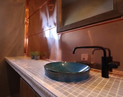 手洗いカウンター (O様邸~フルオーダー新築住宅~)
