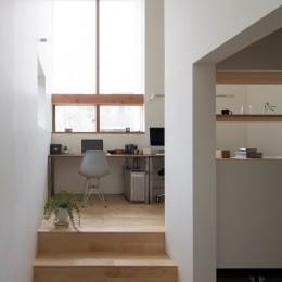 長湫の家/アイランドキッチンとアトリエのある家 (ホームオフィス)