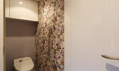 トイレ|マンションリノベーション~お気に入りのクロスとDIY塗装