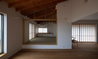 稲城の家 (リビング)