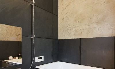 コンセプト住宅「バンドール」 (バンドール 造作の浴室)