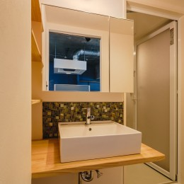 ひとつなぎの北欧スタイル (洗面室)