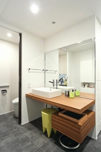 今がベストな家(リノベーション)の部屋 洗面台