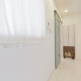 大阪府Sさん邸:愛犬の居場所を確保したひろびろ空間