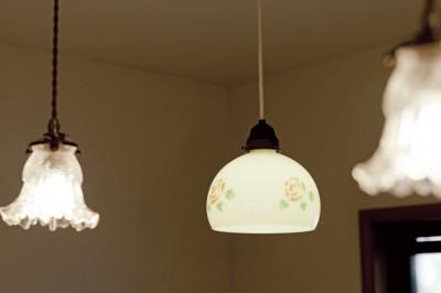 照明 (大阪府Sさん邸:愛犬の居場所を確保したひろびろ空間)