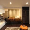 リビングの中のベッドスペース