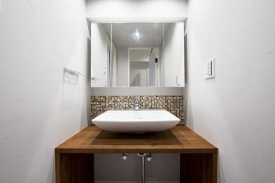 洗面室 (暖かい日ざしと木の温もり)