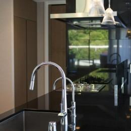 プレミアムマンションのリノベーション計画〜都会の森の家 (キッチン天板)