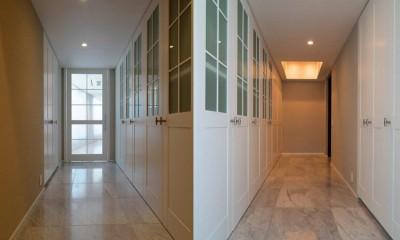 玄関収納|プレミアムマンションのリノベーション計画〜都会の森の家
