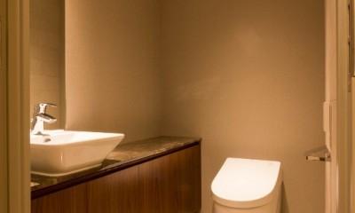 高級マンションのリノベーション〜高台のフレンチシックな家 (トイレ)