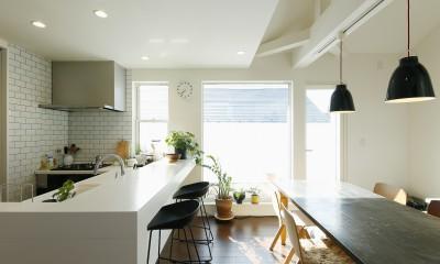 新しい二世帯住宅のかたち (FIX窓で切り取られた絵画のようなバルコニー)
