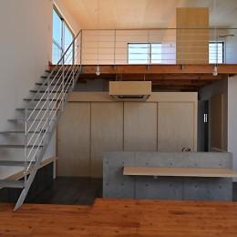 RCと木の混構造によるローコスト・ガレージハウス