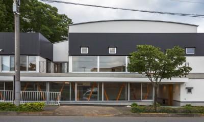 「立体庭」の住宅