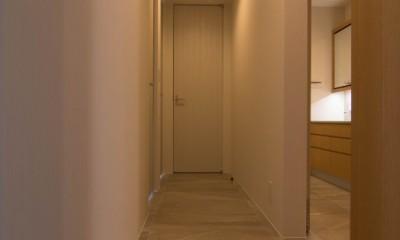 プレミアムヴィンテージマンションのリノベーション (廊下)