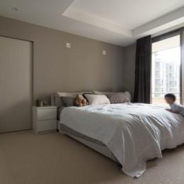 プレミアムヴィンテージマンションのリノベーション (主寝室)