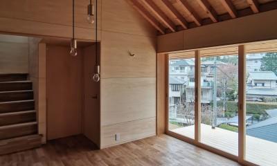 東生駒の家 (リビング)
