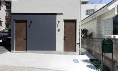 エントランス|谷根千ペンシルハウス  東京の谷根千地区で完成した木造3階建ての住宅