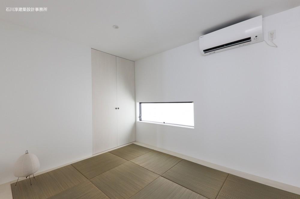 谷根千ペンシルハウス  東京の谷根千地区で完成した木造3階建ての住宅 (和室)