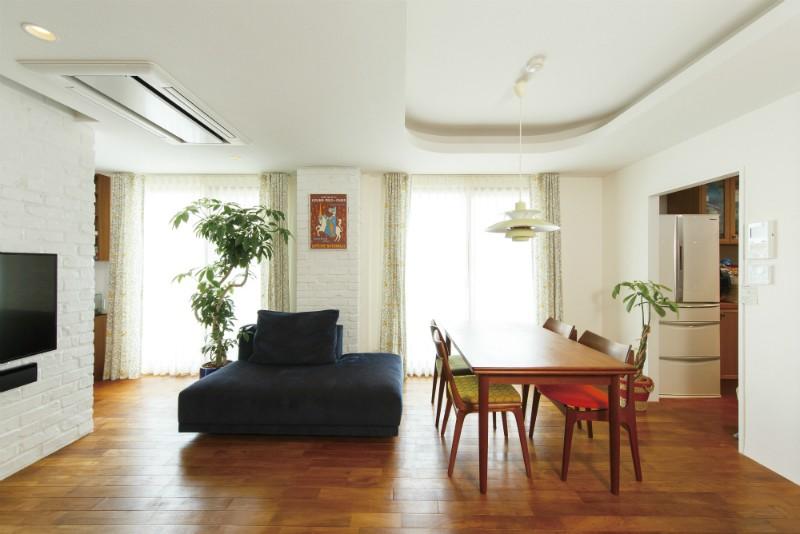 ヴィンテージマンションリフォーム 子供部屋とスタディースペースをつくる (リビングダイニング)