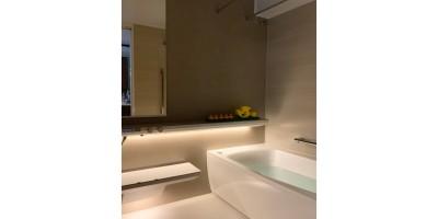 バスルーム (マンション水回りのリノベーション~間接照明でつくるリラックス空間)
