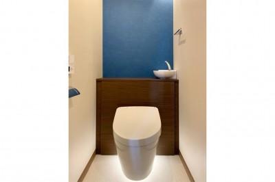 トイレ (マンション水回りのリノベーション~間接照明でつくるリラックス空間)