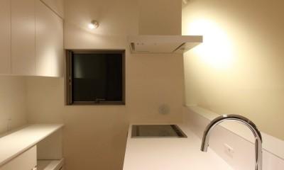 府中の家2~大きなルーフバルコニーのある開放的な家 (キッチン)