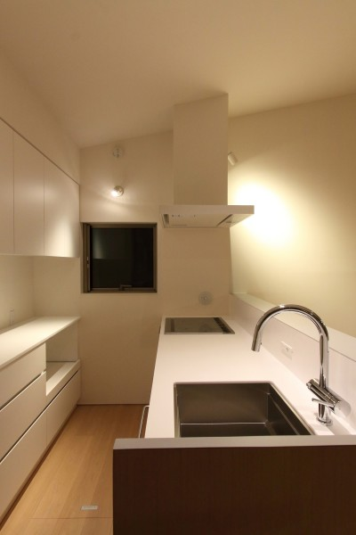 キッチン (府中の家2~大きなルーフバルコニーのある開放的な家)