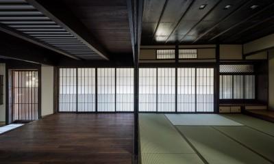 姫路・天満の家 主屋 (仏間~ホール~玄関)