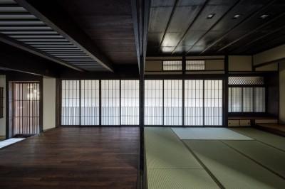 仏間~ホール~玄関 (姫路・天満の家 主屋)