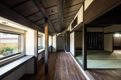 読書室と仏間 (姫路・天満の家 主屋)