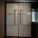 姫路・天満の家 主屋の写真 キッチンの格子戸