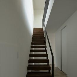 三鷹の家~緑を望む大開口の家 (階段)