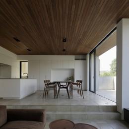 三鷹の家~緑を望む大開口の家 (テラスと一体のLDK)