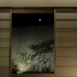 三鷹の家~緑を望む大開口の家 (和室より望むウッドデッキ)